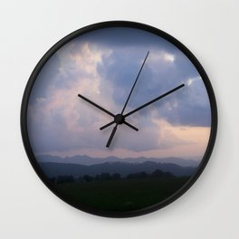 Cloudy Sunset Wall Clock