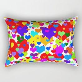 Beaucoup de coeurs de couleur Rectangular Pillow