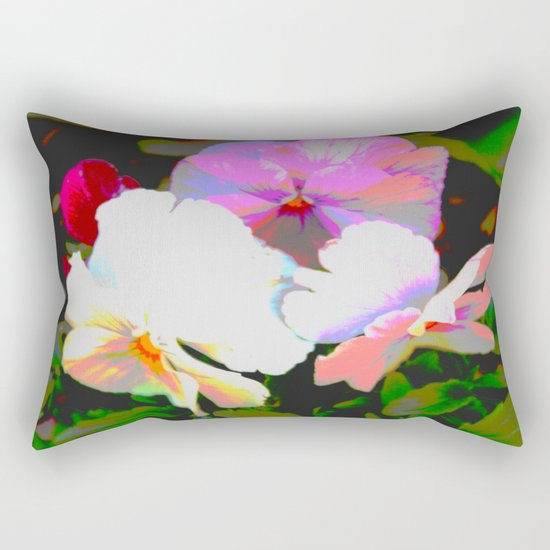 Painterly Pansies Rectangular Pillow
