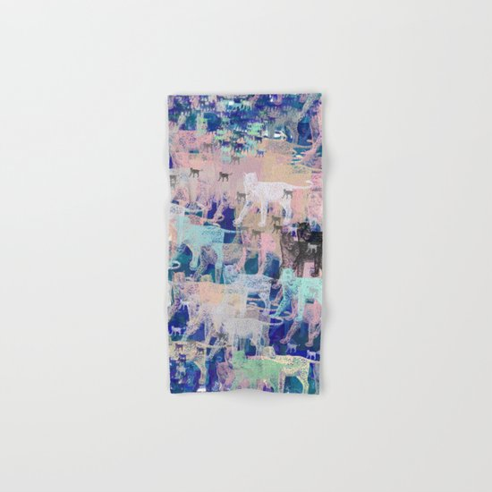 Instinctive Kittens Abstract Hand & Bath Towel