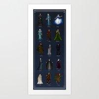 valar morghulis Art Prints featuring The Valar (dark) by wolfanita