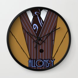 Brown Suit Wall Clock