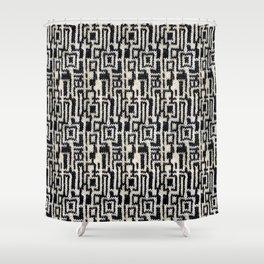 Maze Knit Shower Curtain