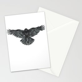 Crow in Flight Stationery Cards