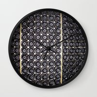 wine Wall Clocks featuring Wine by Alev Takil