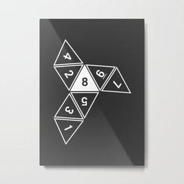 Grey Unrolled D8 Metal Print