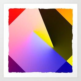 Expressionist Cubes II  Art Print