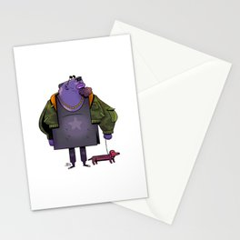 Off for a walk Stationery Cards