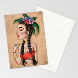 Metro&medio Designs - Flower crown Pin-up Stationery Cards