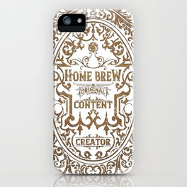 D20 RPG Home Brew Distressed Whiskey Label iPhone Case