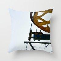 ski Throw Pillows featuring Ski by radiantlee