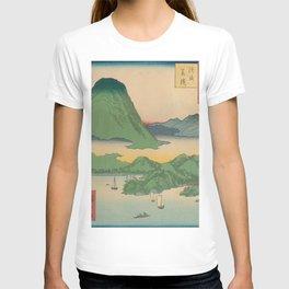 Mountain and Sea Ukiyoe Landscape T-shirt