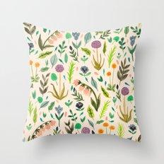 Colours from the garden Throw Pillow