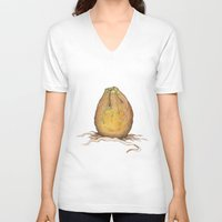 egg V-neck T-shirts featuring Egg by Joey Wall