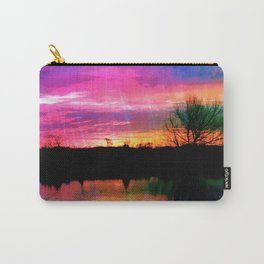 Watercolor January Texas Sunrise Carry-All Pouch