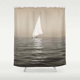 Ship on the Nile Shower Curtain