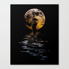 Rainman at Moonrise Canvas Print