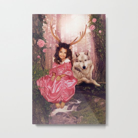 Princess of the Forest Metal Print