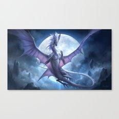 White Dragon v2 Canvas Print