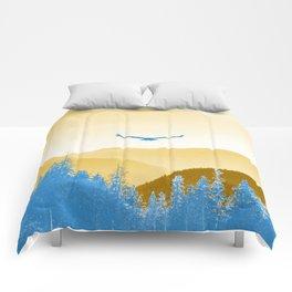 Earth Tone Eagle Flight Comforters