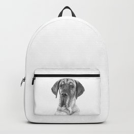 Black and White Great Dane Backpack