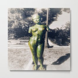 The Naked Statue Metal Print