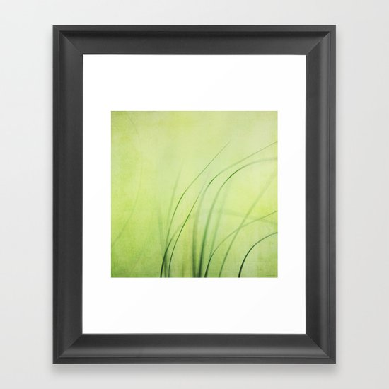 Swaying Grasses (with texture) Framed Art Print