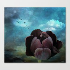 If a raven became a tulip Canvas Print