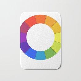 Art Teacher Gift Color Circle Palette Painter Artist Present Bath Mat