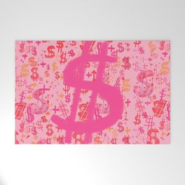 Pink Dollar Signs Welcome Mat