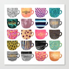 Pretty Coffee Cups Canvas Print