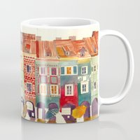takmaj Mugs featuring Evening in Poznań by takmaj