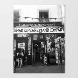 Shakespeare Love Canvas Print