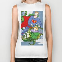 superman Biker Tanks featuring SUPERMAN by • PASXALY •