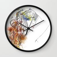 rogue Wall Clocks featuring Rogue by Mariano Daniel