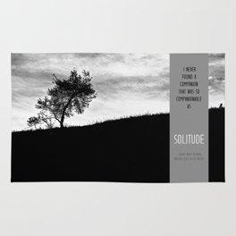 Henry David Thoreau - Solitude Rug