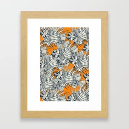 fish mirage turmeric Framed Art Print
