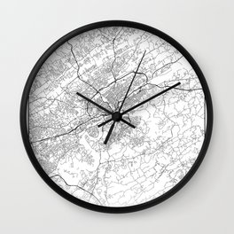 Minimal City Maps - Map Of Knoxville, Tennessee, United States Wall Clock
