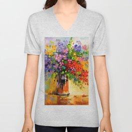 Bouquet of wildflowers Unisex V-Neck