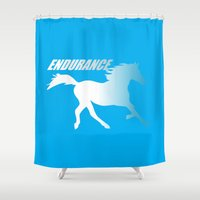 napoleon Shower Curtains featuring Endueance Napoleon dynamite by Buby87
