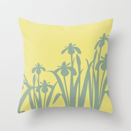 Abstract Daffodils  pattern yellow #daffodils #flowers Throw Pillow