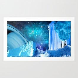 Ice Space Art Print