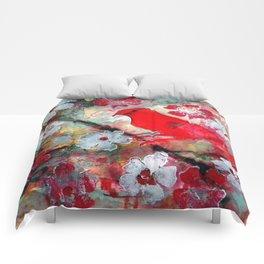 Red Bird Singing Comforters