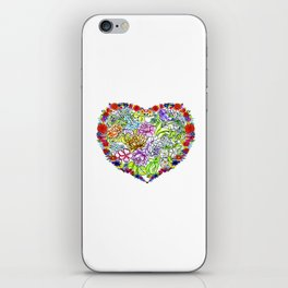 flowers in the heart iPhone Skin