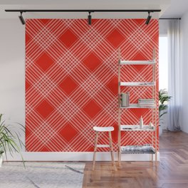 Red Pattern Design Wall Mural
