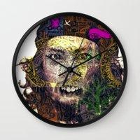 che Wall Clocks featuring Che by JosephusBartin