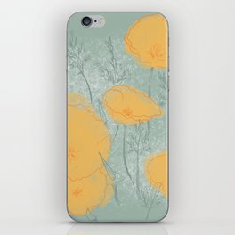 California Poppies in Gray iPhone Skin