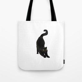 Spooky Black Cat Tote Bag