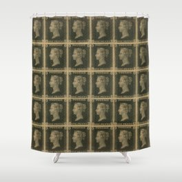 Penny Black Postage Shower Curtain