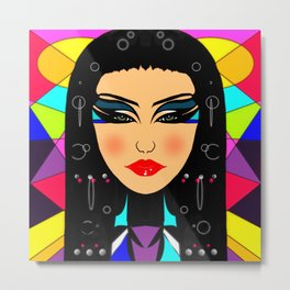 Cleopatra design Metal Print